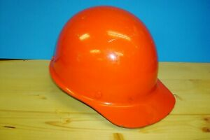 Vintage Hard Hat Msa Skullgard Protective Cap Bright Orange Super Clean W Liner