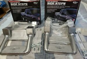 Bully As 200 Aluminium Polished Multi fit Truck Side Suv Steps 2 Pair New