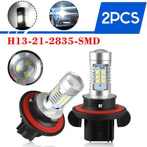 2x H13 9008 21 Smd Led Headlight Kit Low Beam Fog Light Bulbs 6000k Super Bright