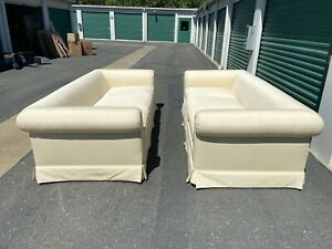 Pair Tuxedo Back Sofas Fabulous Custom Even Arm Couch Vintage Chic Like Nu