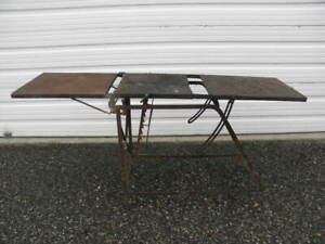 Vintage Embalming Funereal Surgical Medical Table Hearse Gurney Undertaker s