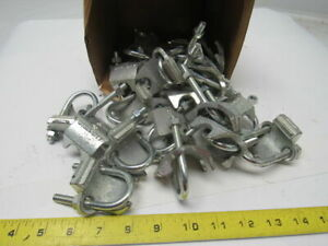 Steel City 3 4 Malleable Iron Right Angle Rigid Conduit Clamp Lot Of 10