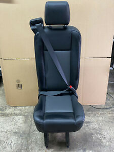 2015 2019 Ford Transit Van 1 Person Rear Seat Black Vinyl With Quick Release