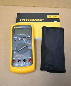 Fluke Process Meter 787 Yellow Case Manual And Some Accessories