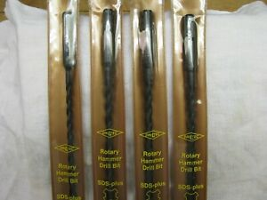 4 Nos Driltec Rotary Hammer Drill Bits Sds plus 3 1 4 1 3 16