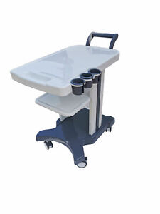 Enhanced Mobile Trolley Cart For Ultrasound Imaging Scanner System 3 Holes Us