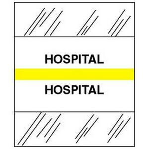 Hospital Chart Divider Tabs 1 1 4 X 1 2 Yellow pack Of 100