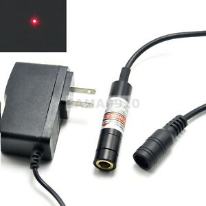 Focusable 20mw Dot Red Laser Light Laser Diode Module 650nm 12x55mm W adapter