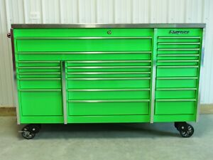 Snap On Extreme Green Krl1023 Tool Box Stainless Steel Top