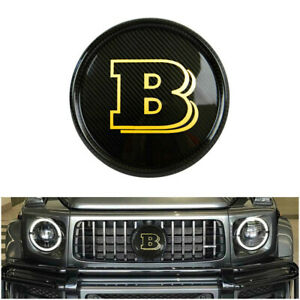 Mercedes G 63 Wagon W463a Brabus Style Carbon Fiber Front Grille Badge Yellow