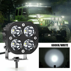 3inch 40w Square Led Work Light Lamp Pods 4000lm 6000k White Driving Fog Offroad