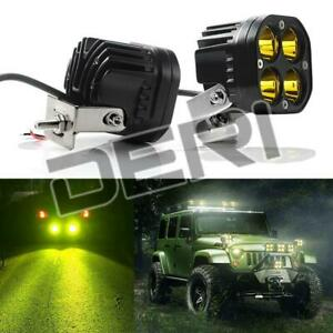 2pcs 3inch Pods Led Work Light Spot 40w Bar Off Road Fog Lamp 4wd Atv Suv Amber