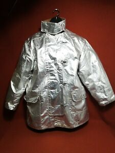 Vntg Jacket Firefighter Janesville Size 50 Aluminized Turnout Bunker Fire Gear