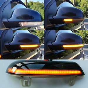 Turn Signal Mirror Lights Sequential Led Flash For Vw Golf 5 Mk5 2003 2008 Gti