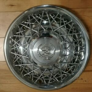 15 Beautiful Cadillac Oem Wire Spoke Hubcap Wheelcover 1 H 2044c P 01622896
