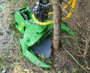 Tilting Rotating 7 Tree Shear For Boom Loader