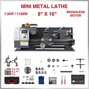 Upgraded 1 5hp 1100w Dc 8 16 Mini Metal Lathe Bench Top Milling 9 Tools