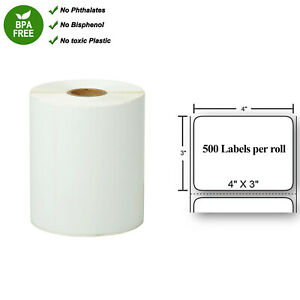Thermal Transfer Shipping Paper 500 Labels Per Roll Tape 4 X 3 For Zebra 4x3