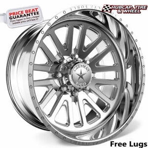 American Force Wraith Ck20 Concave Polished 22 x12 Truck Wheel 6 Lug set Of 4