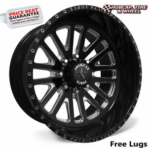 American Force Wraith Ck20 Concave Black 24 x12 Truck Wheel 8 Lug set Of 4