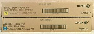 2 Xerox 006r01454 Yellow 006r01456 Cyan Workcentre 7120 7525 Sealed New Boxes