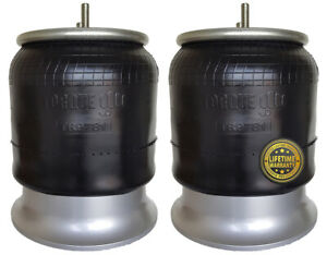 Pair Of Freightliner Air Spring Bag Aluminum Base Replaces W01 358 9781