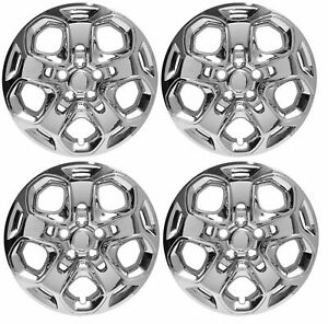 Qty 4 Set Of New 2010 2011 2012 Ford Fusion 17 Chrome Bolt On Hubcap Wheelcover