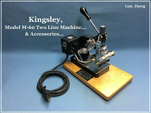Kingsley Machine M 60 Two line Machine Accessories Hot Foil Stamping