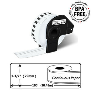 1 1 7 X 100 Dk 2210 Dk2210 Continuous Label For Brother Ql570 Permanent Holder