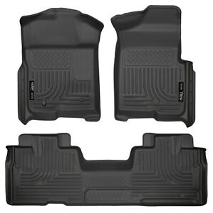 Husky Liner Weatherbeater Floor Mat Set Black For 2009 14 Ford F 150 Super Cab