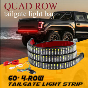 60 Led Strip Tailgate Light Bar Truck Runninb Turning Reverse Brake Signal 4row