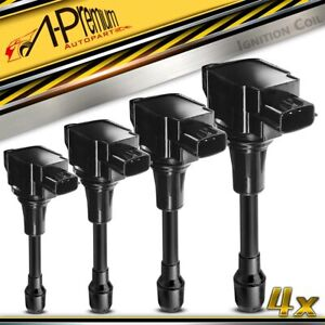 4pcs Ignition Coils For Nissan Altima 07 18 Sentra Versa Infiniti Qx60 2 0l 2 5l