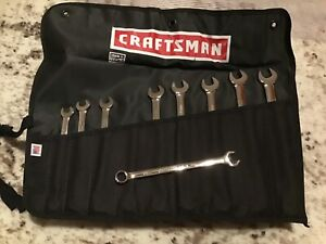 Craftsman Industrial Wrench Set With Cloth Roll Up Pouch Made In Usa 4 Sets