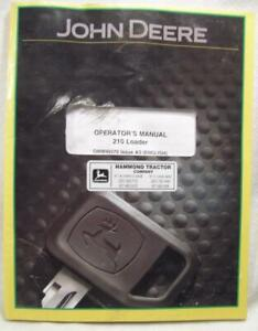 Used Softbound 88 Page John Deere Operators Manual For 210 Loader
