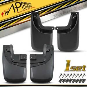 4pcs Mud Flaps Splash Guards Mudguard For Toyota Tacoma 2005 2015 Front And Rear
