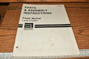 Ag Chem Foam Marker 5 And 10 Gallon Parts Assembly Instruction Manual 009368