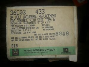 36c03 433 White rodgers Gas Heating Furnace Control Valve 24v New Old Stock