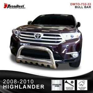 Broadfeet Black Bull Bar Front Bumper Guard Protector Toyota Highlander 2008 10