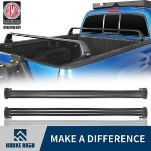 Hooke Road Pair Rear Bed Cross Bars For 2005 2020 Toyota Tacoma Pickup Gen 2 3