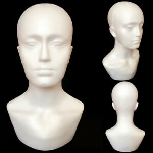 2x foam Male Display Mannequin Head Dummy Wigs Hat Scarf Stand Model B6s2