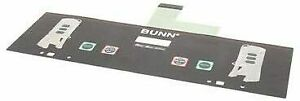 Bunn 34802 0000 Membrane Switch