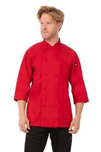 Chef Works Men s Morocco Chef Coat Red Large