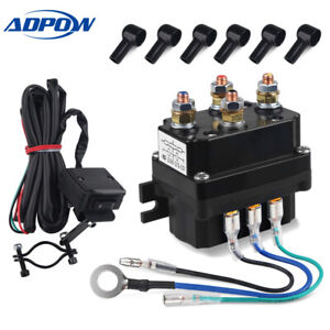 Fit For Utv Atv Winch Contactor Rocker Thumb Switch Winch Solenoid Relay 12v