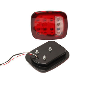 2pcs Red White Stud Mount Stop Taillight Turn Signal Light Fits Jeep Car Truck