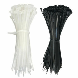 Plastic Cable Zip Ties Heavy Duty Nylon Wrap Wire 100pcs 4 8 12 Cable Ties