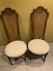 Vintage Louis Xv Style High Back Cane Chairs