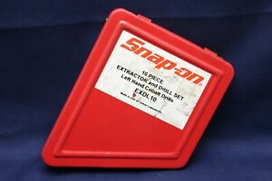Snap On 10 Piece Extractor And Drill Set In Case E2b3