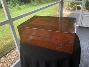 Antique Mahogany 1860 1910 Presentation Silverware Chest Detroit Jewelry Box Or