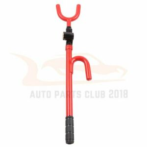 Extendable Universal Steering Wheel Lock Red Auto Security System Double Hook