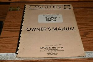 Land Pride 45 Series 180 Flexwing Rotary Cutter Owner s Manual Rcf45180 Rcfm